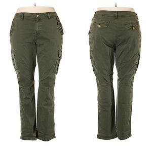 Michael Kors Green Cargo Pants Size 24W